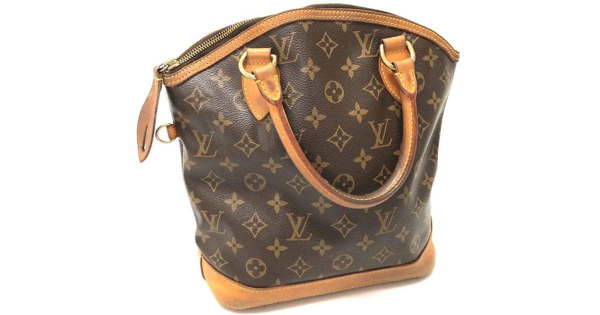 Lyst - Louis Vuitton Monogram Lockit Women s Bag Hand Bag Brown  Monogramcanvas M40102 in Brown d63954f95b29a