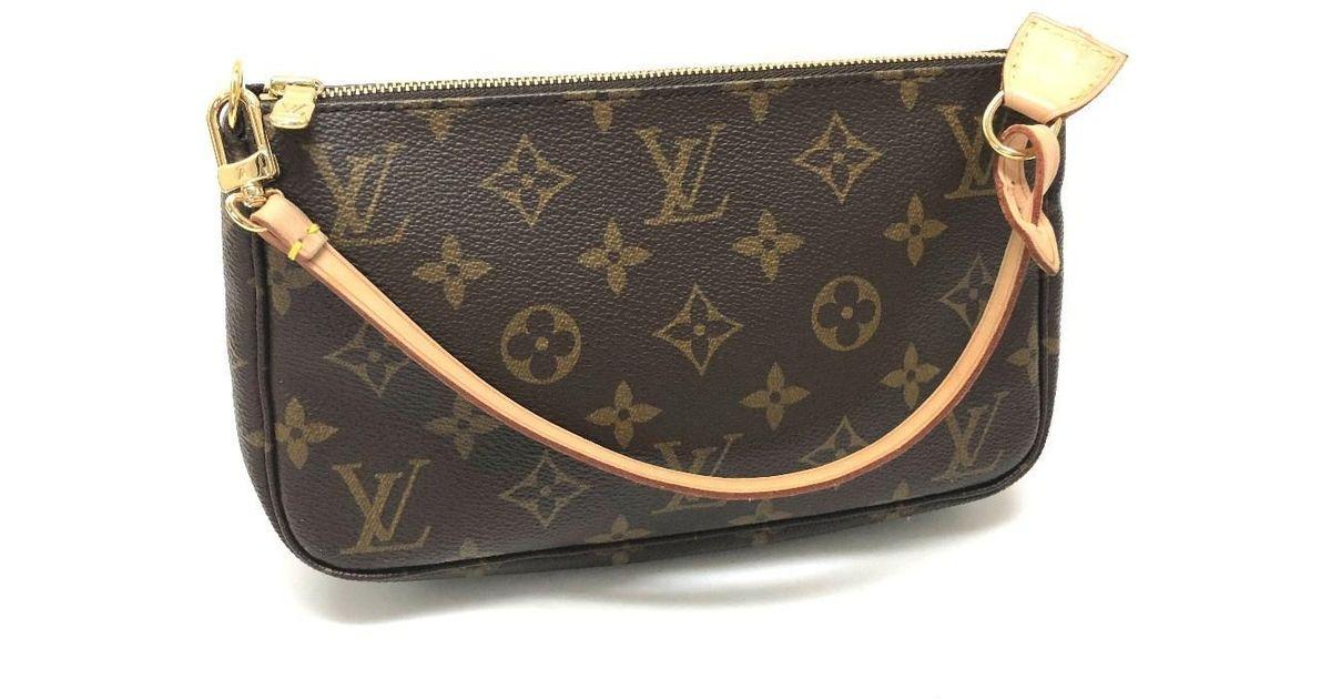 58cc8d08d76 Louis Vuitton Monogram Pochette-accessoires Hand Bag Shoulder Bag Accessory  Pouch Brown Monogram-canvas M40712 in Brown - Lyst