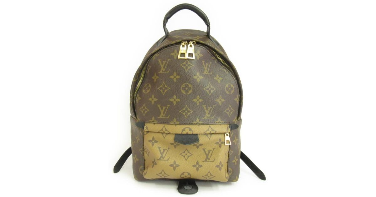 Lyst - Louis Vuitton Palm Springs Backpack Monogram Reverse Pm M43116 in  Brown 89a4cf72fc