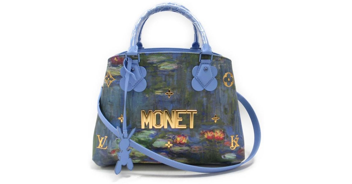 e40e2bc795d4 Lyst - Louis Vuitton Monet Montaigne Mm 2way Handbag M43381 Pvcx Leather  Multicolor in Blue