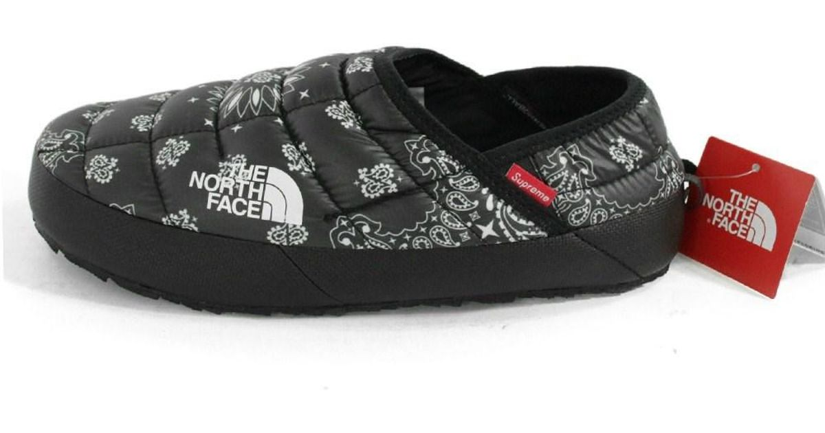 ba0e8dadd3 Lyst - Supreme The North Face   The North Face Bandana Thermoball Traction  Mule Shoes Bandana Pattern Slippon Shoes   Nf 01470 in Black for Men