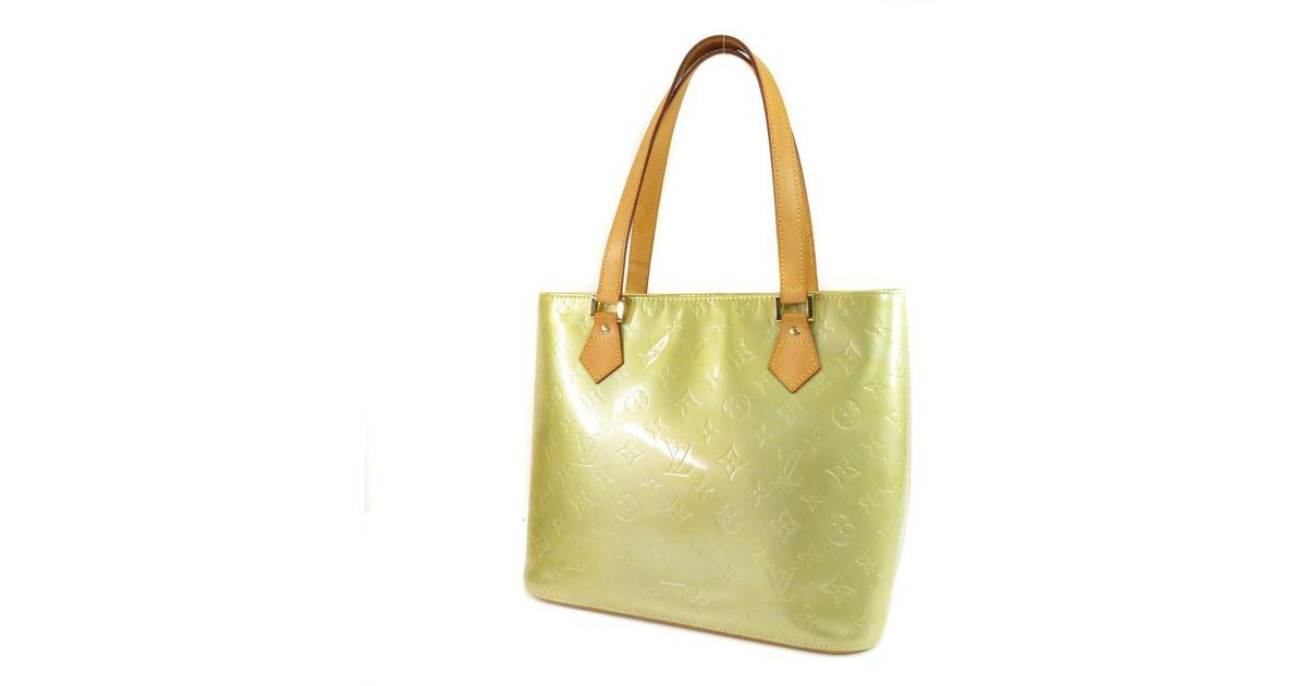 ad26e9916bb51 Lyst - Louis Vuitton Vernis Tote Bag M91053 Houston in Yellow