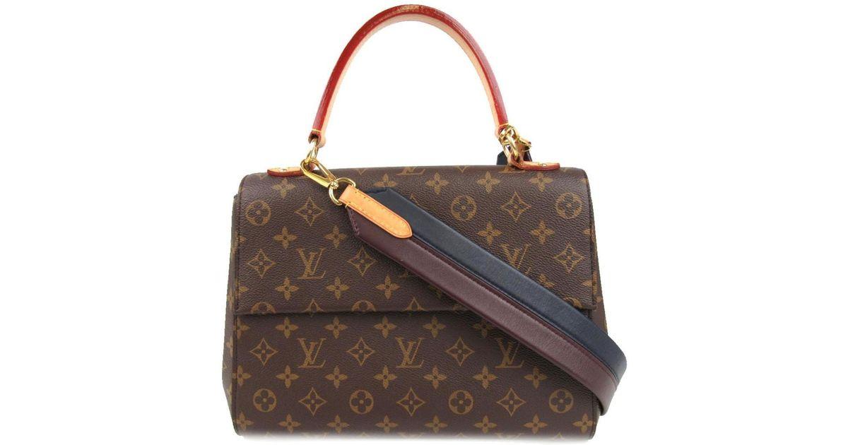944081dcbc61 Lyst - Louis Vuitton Cluny Mm Shoulder Bag Monogram Canvas M43236 in Brown
