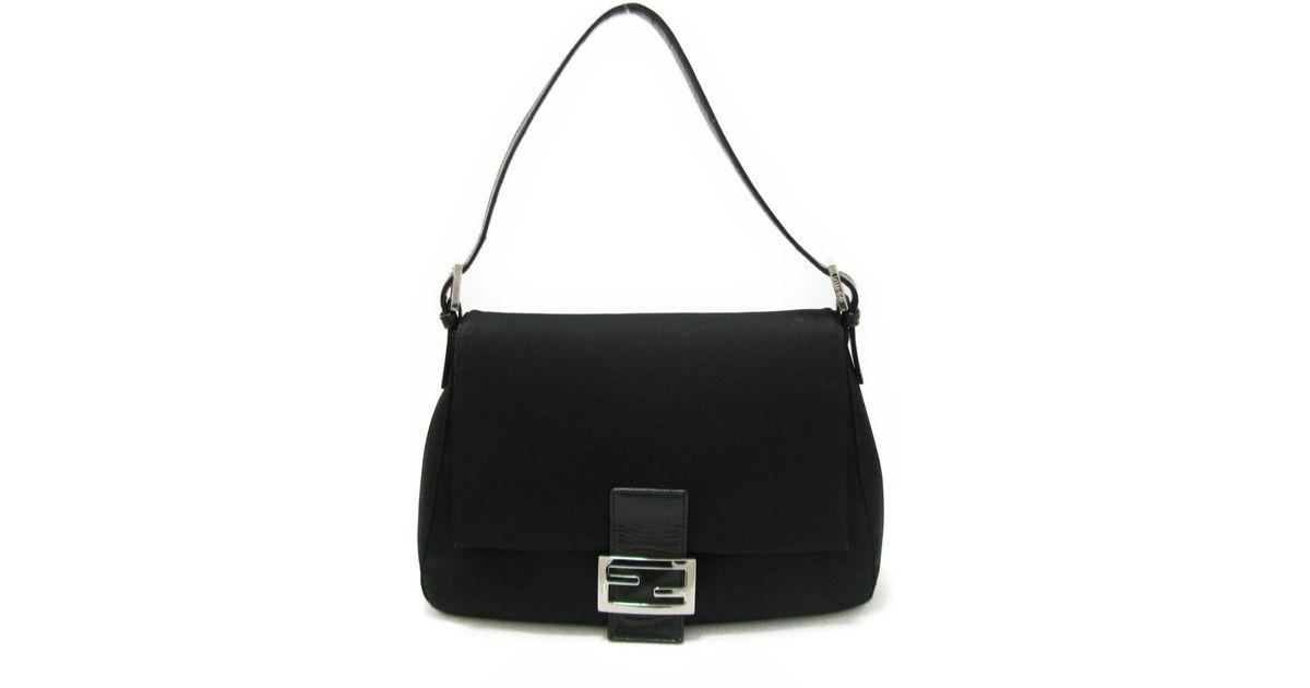 96617dcc00e7 Lyst - Fendi Mumma Baguette One Shoulder Bag 2321.26325.008 Nylon X Leather  Black in Black