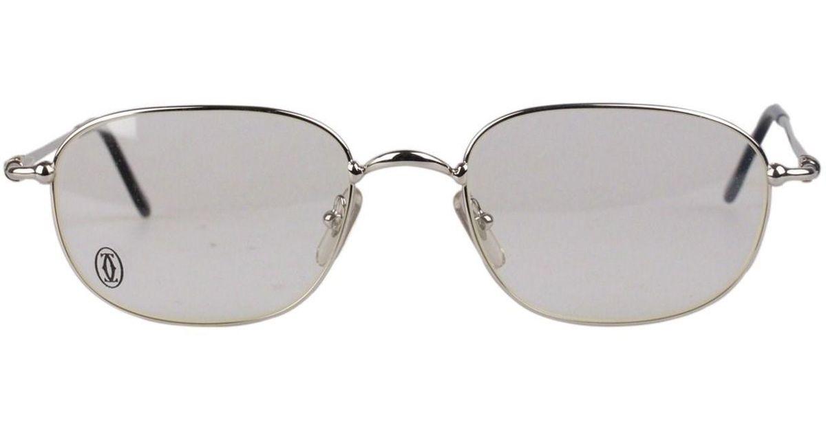 6b2838e227 Cartier Paris Vintage Eyeglasses Vesta Platinum 56-21 140mm Nos in Metallic  for Men - Lyst