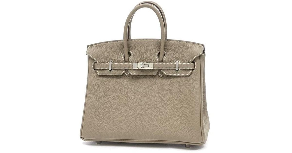 57f149625598 Lyst - Hermès Birkin 25 Togo Etoupe Silverhardware A Time in Gray