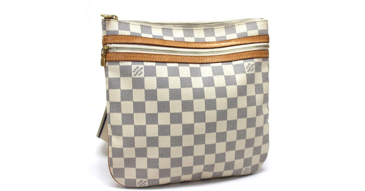 511f11c3857d Lyst - Louis Vuitton Damier Azur Pochette Bosphore Crossbody Men s Women s Shoulder  Bag Damierazurcanvas N51112 in White