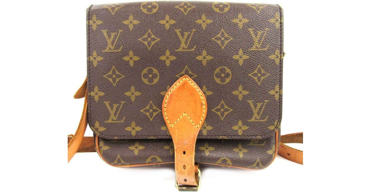 250aeb3b2f Louis Vuitton Auth Cartouchiere Mm Shoulder Bag Monogram Canvas M51253 Used  in Brown for Men - Lyst