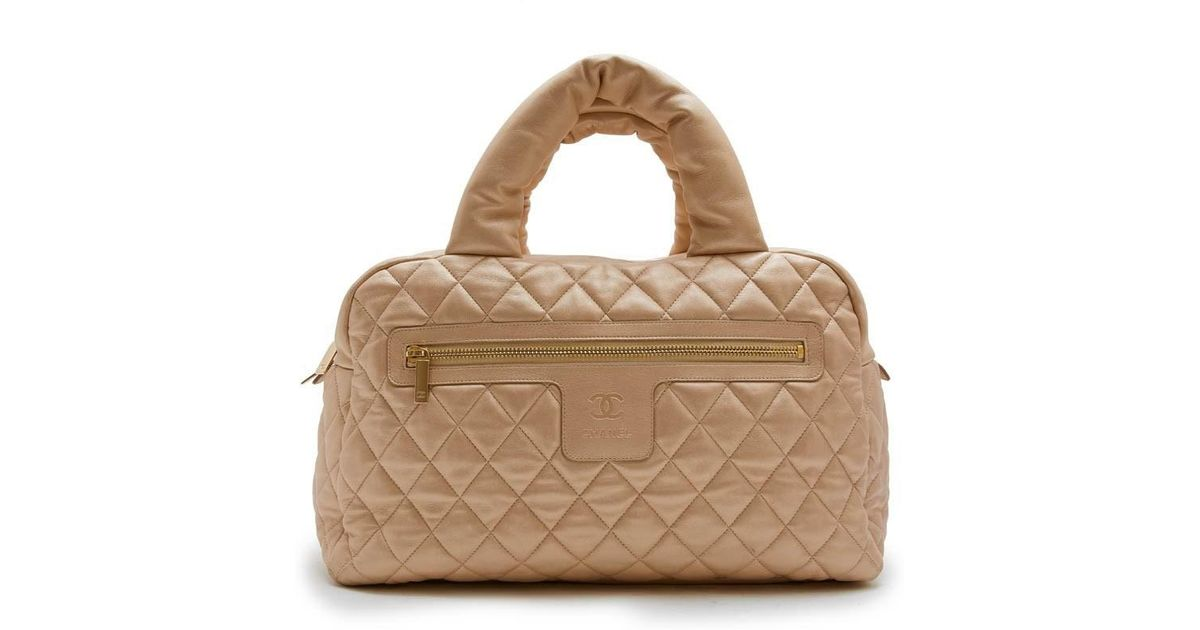 a418cf537066 Chanel 'cocoon' Bag In Gold Quilted Leather in Metallic - Lyst