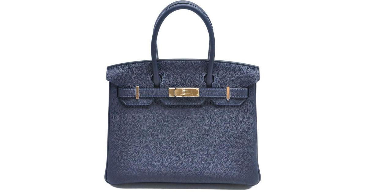 4f5a02ce0b6 Lyst - Hermès Birkin 30 Veau Togo Bleu Nuit in Blue