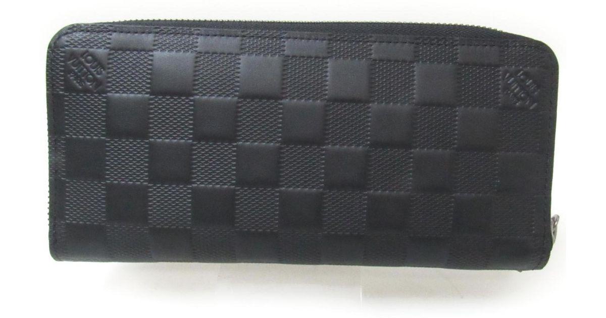Lyst - Louis Vuitton Zippy Wallet Vertical N63548 Damier Infini Leather  Onyx Black in Black 0ef0cb0e91a97
