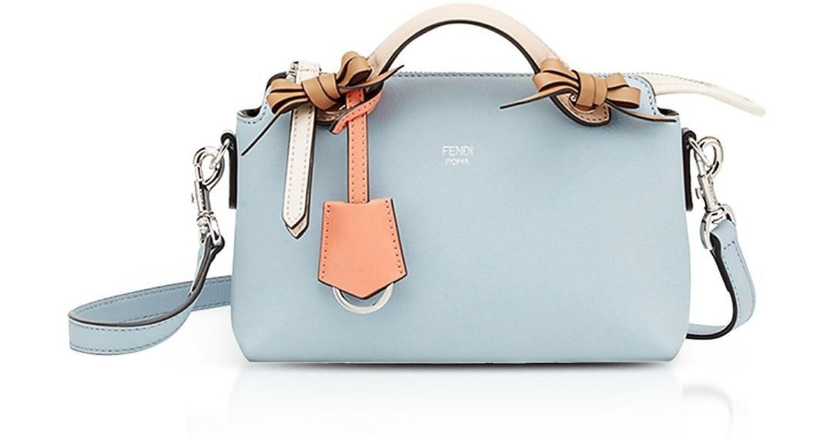 62b93b85f1 Lyst - Fendi By The Way Light Blue Leather Small Boston Bag in Blue