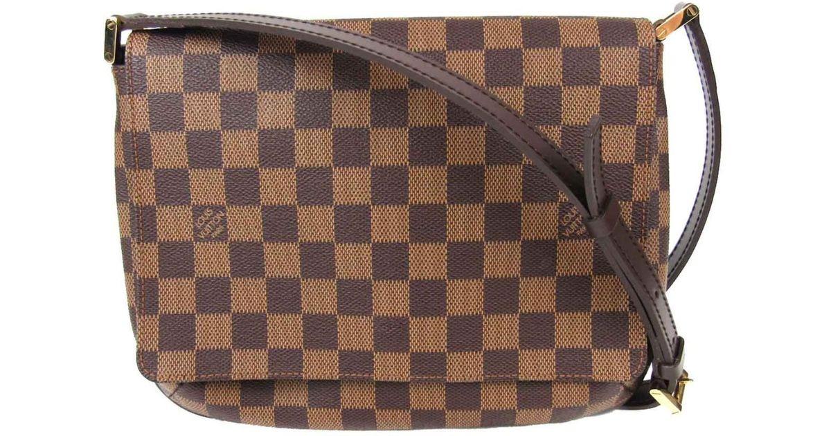 f738c05904d2 Lyst - Louis Vuitton Musette Tango Long Strap Shoulder Flap Bag Damier  N51301 in Brown