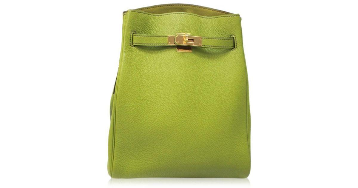 fecbcf5878dd Lyst - Hermès Kelly Sports Mm Togo Leather Shoulder Bag Anis Green in Green