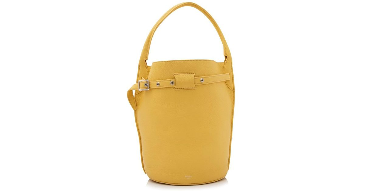 Lyst - Céline Céline Big Bag Bucket in Yellow 15408fa22a2cd