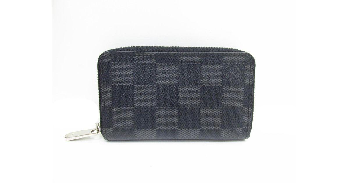 061c203090d7 Lyst - Louis Vuitton Zippy Coin Purse Case Damier Graphite Canvas N63076 in  Black