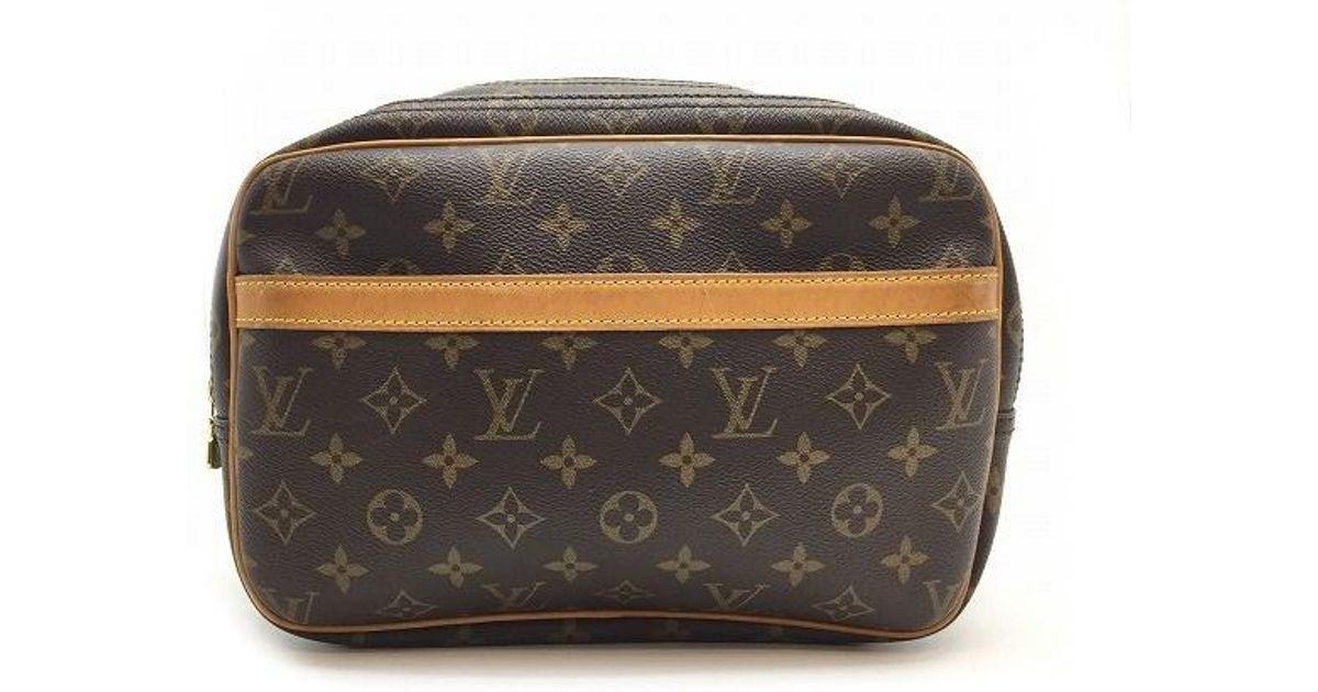 efa74dce51 Lyst - Louis Vuitton Auth Monogram Reporter Pm Shoulder Bag Brown M45254 in  Brown