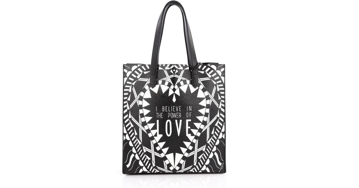 c8781a767b Lyst - Givenchy Power Of Love Tote Printed Leather Large in Black