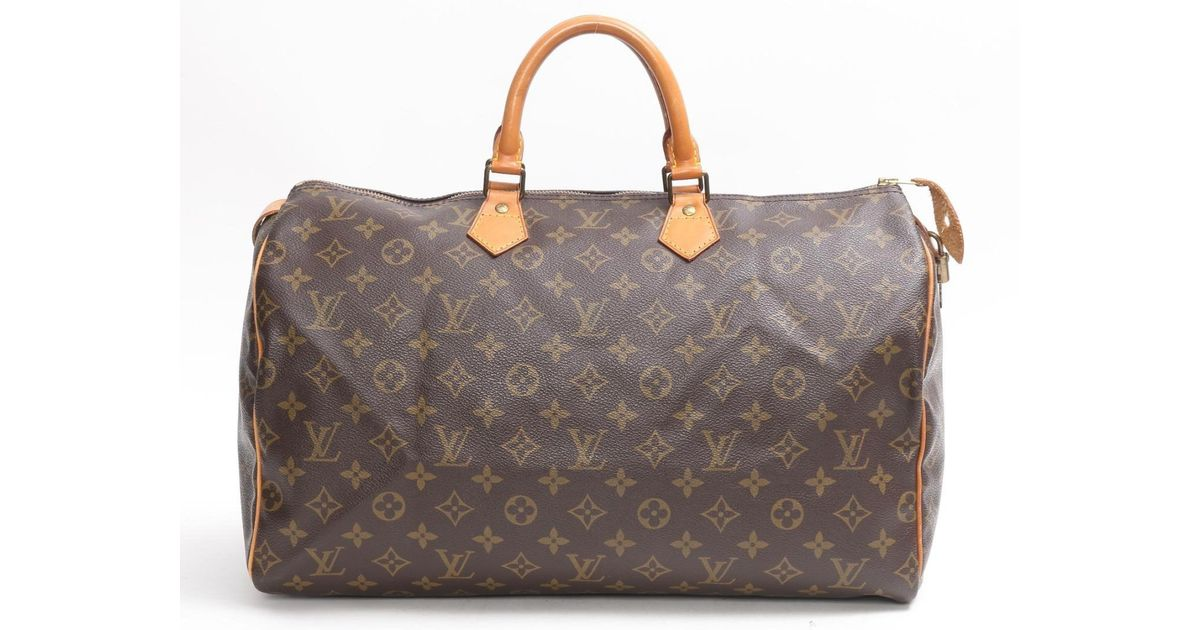 1273261cb3c9 Lyst - Louis Vuitton Authentic Speedy 40 Boston Bag M41522 Monogram Used  Vintage in Brown for Men