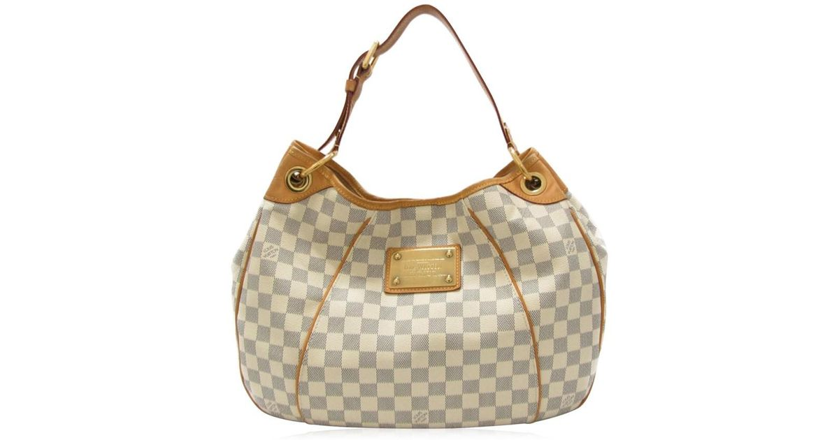 Lyst - Louis Vuitton Galliera Pm Shoulder Bag Damier Azur Canvas N55215 in  White ef931b506b0fb