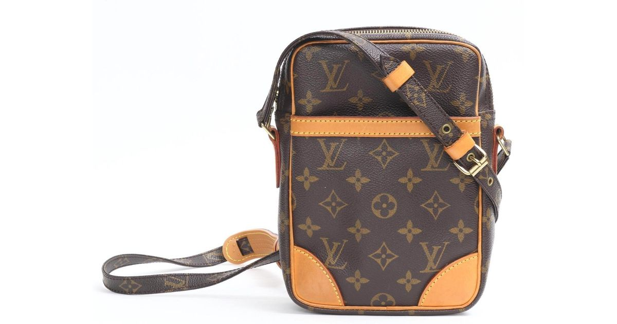 182aadd53fc6 Lyst - Louis Vuitton Danube Crossbady Shoulder Bag Monogram Canvas M45266  in Brown