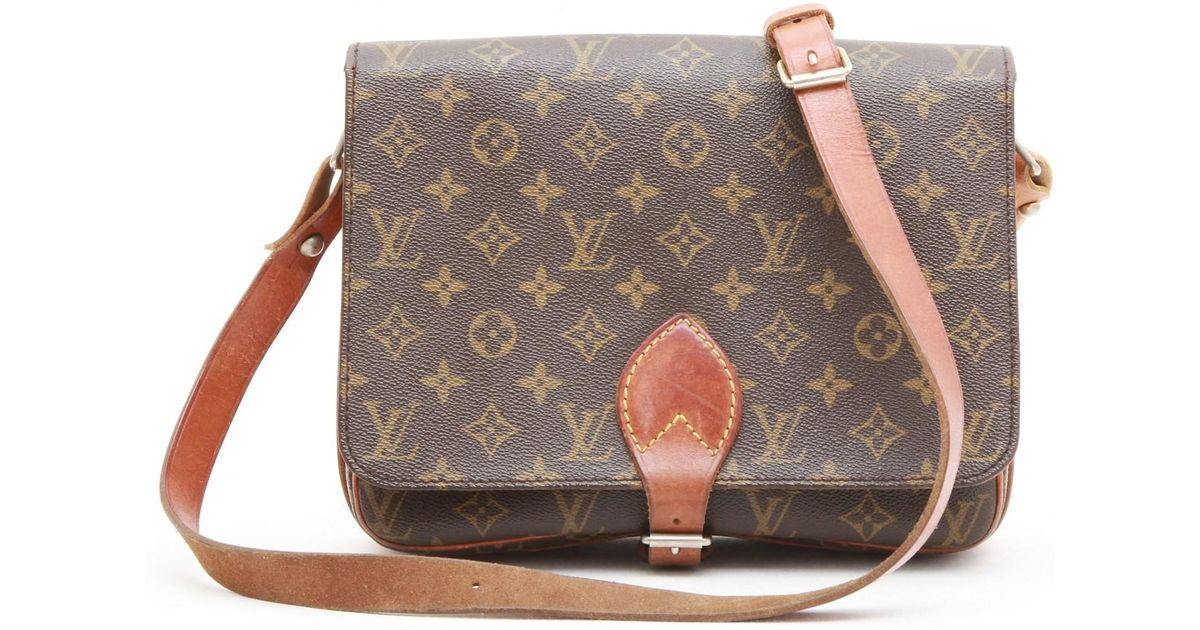 00c1e82889d9 Lyst - Louis Vuitton Vintage Messenger Bag In Brown Monogram Canvas And  Leather in Brown