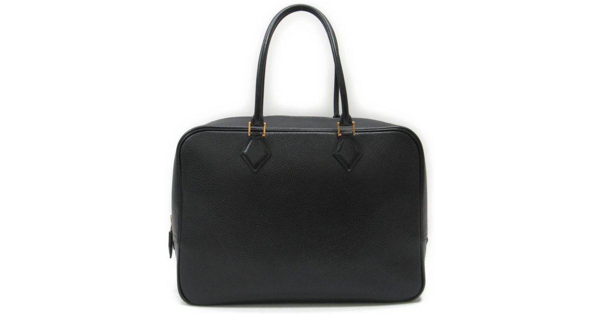b42b5fa38fa4 ... france lyst hermès plume 32 handbag totebag ardennes leather black in  black 11441 d57aa
