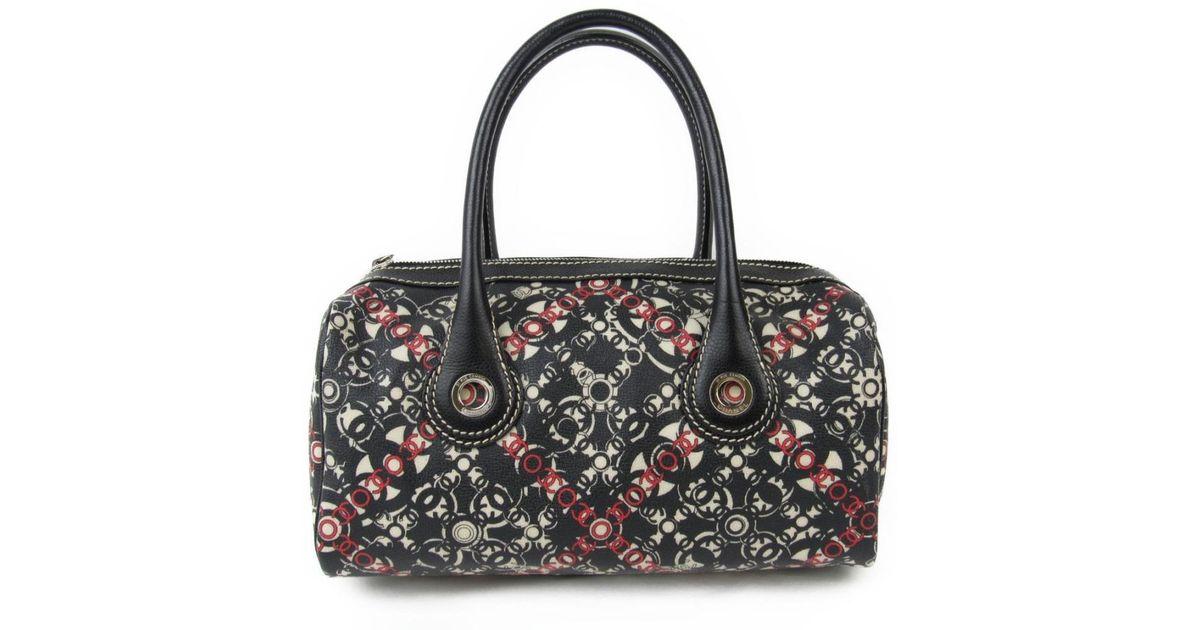 b1210771920f Lyst - Chanel Boston Bag Pvc Coated Canvas X Leather Black in Black