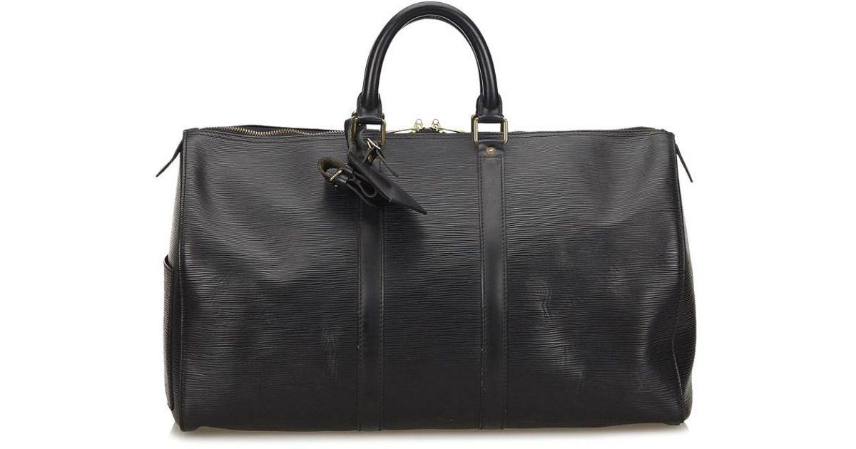 16202769b6b5 Lyst - Louis Vuitton Epi Keepall 45 in Black