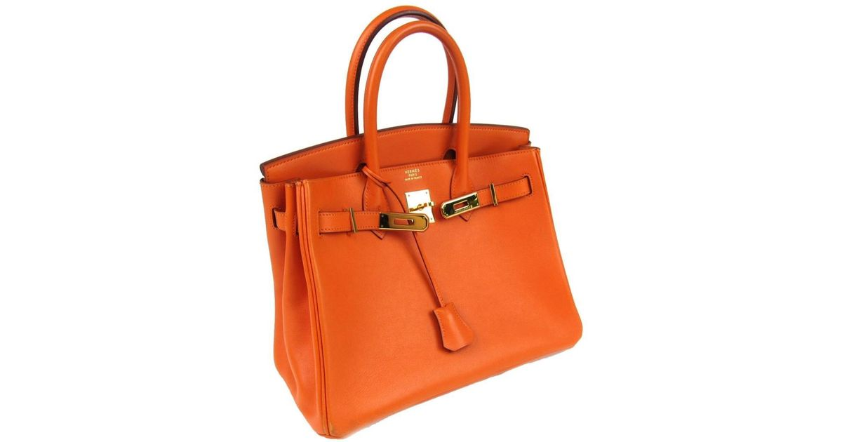 7ae2668b31d ... new zealand lyst hermès birkin 30 handbag totebag swift leather orange  ghw in orange 9eec2 4469d