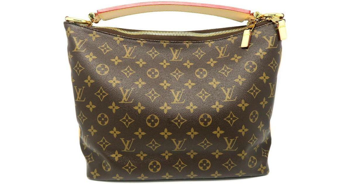 c372ab57b2ce Lyst - Louis Vuitton Monogram Sully Pm Hobo Bag Brown M40586 9534 in Brown