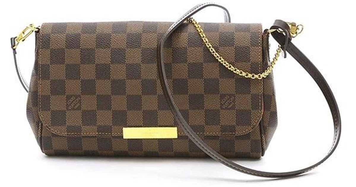 Lyst - Louis Vuitton Damier Favorit Pm Shoulder Bag N 41276 Maid In Usa in  Brown e6a0c9a4f6099