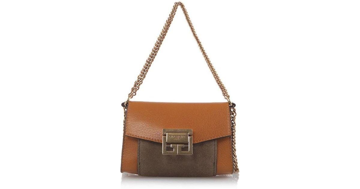 ae9a539fb54e Lyst - Givenchy Nano Gv3 Bag in Brown
