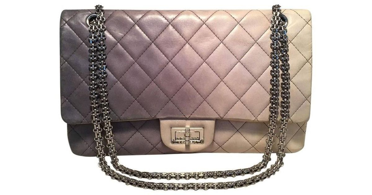 2e675776ab64d5 Chanel Double Hybrid Degrade Ombre Grey Leather 2.55 Reissue 227 Classic  Flap in Gray - Lyst