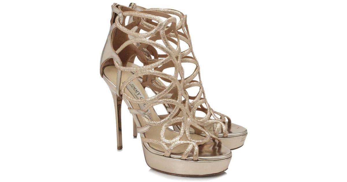3591706ffe0 Lyst - Jimmy Choo Pre-owned Loila 124 Heels in Metallic
