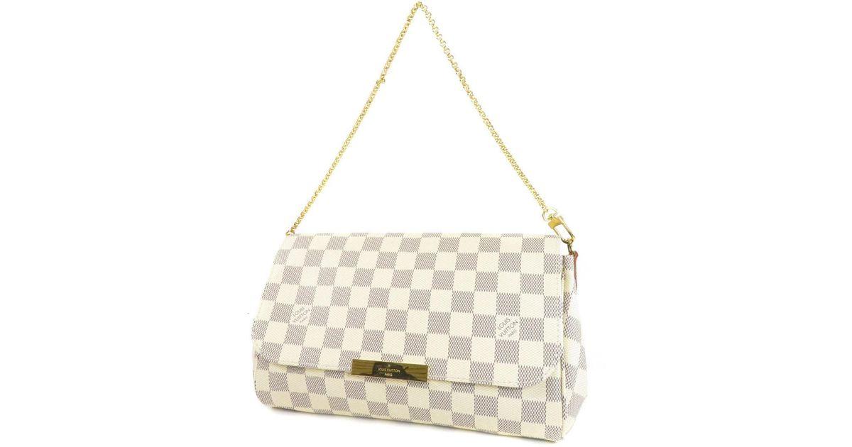 9ec1cc2144d Lyst Louis Vuitton Damier Canvas Shoulder Bag N41275 Favorite Mm