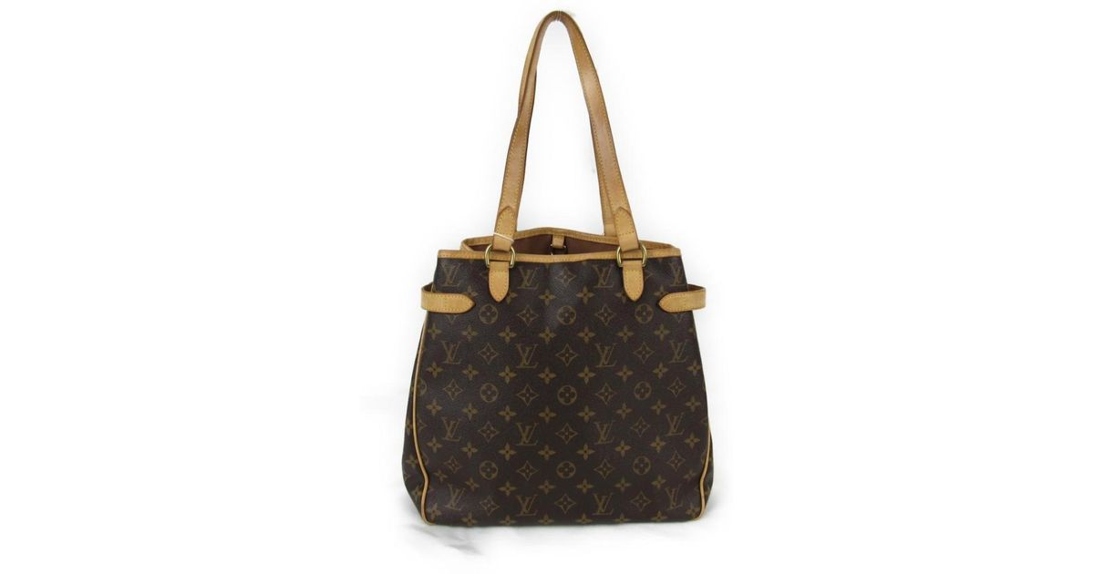 0b08ef334b69 Lyst - Louis Vuitton Batignolles Vertical Tote Bag Monogram Canvas M51153  in Brown