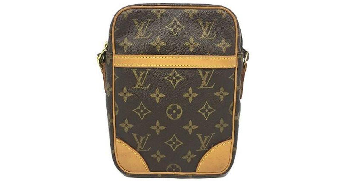 c8d101dc3553 Lyst - Louis Vuitton Monogram Canvas Danube Shoulder Bag Brown M45266 in  Brown