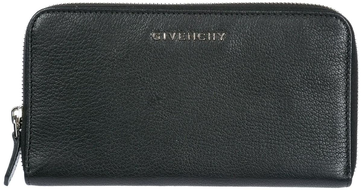 9e954b3ce91 Givenchy Wallet Genuine Leather Coin Case Holder Purse Card Bifold in Black  - Lyst