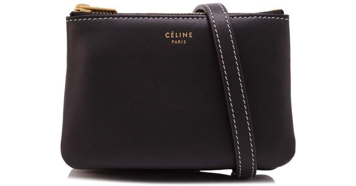 37a7fc536ecd Lyst - Céline Mini Trio in Black