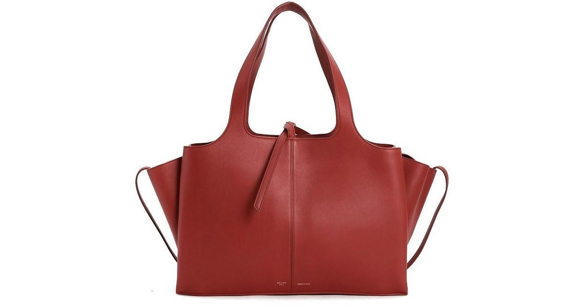 b44edf1a6c Lyst - Céline Tote in Red