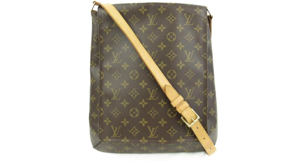 Lyst - Louis Vuitton Authentic Musette Shoulder Bag M51256 Monogram Used  Vintage in Brown e789113f22424