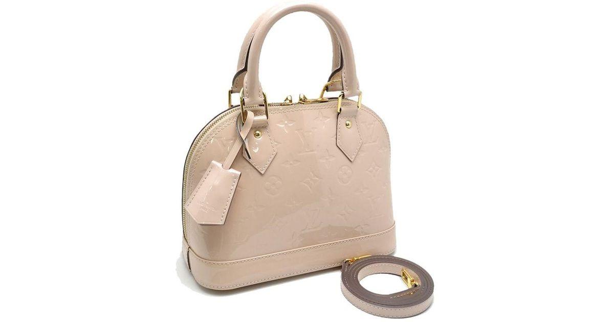 ba44289cd669 Lyst - Louis Vuitton Vernis Alma Bb 2way Handbag M90064 Rose Angelique   59849 in Pink