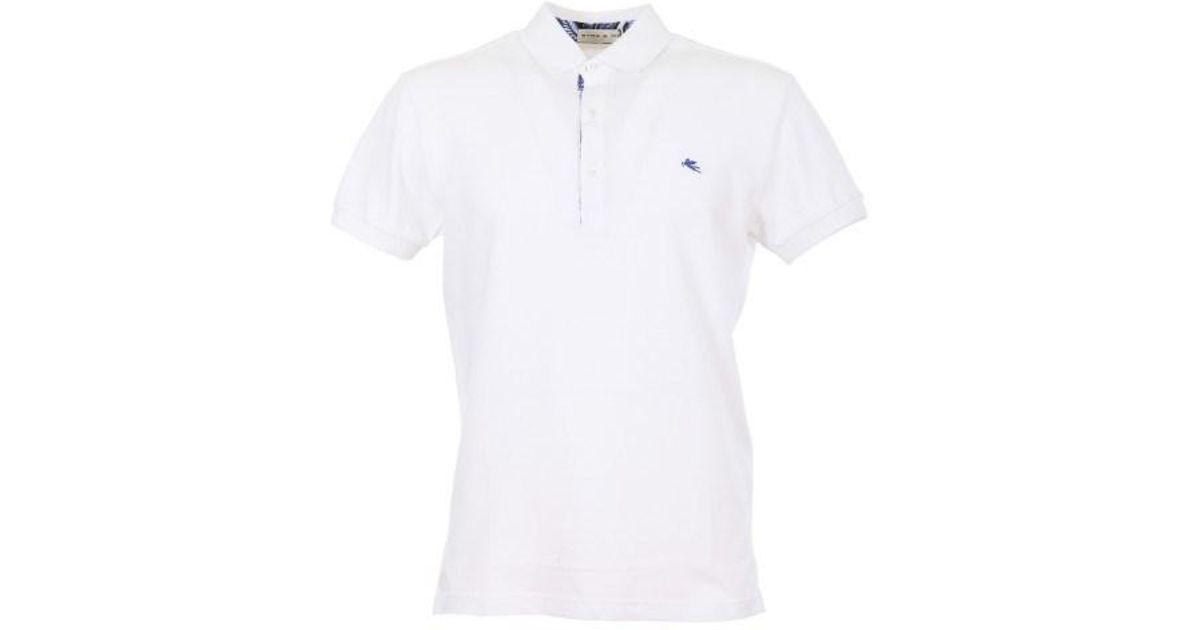 442b97c9 Lyst - Etro White Polo Shirt in White for Men