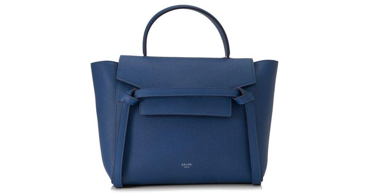 8d299999eff Lyst - Céline Céline Micro Belt Bag in Blue