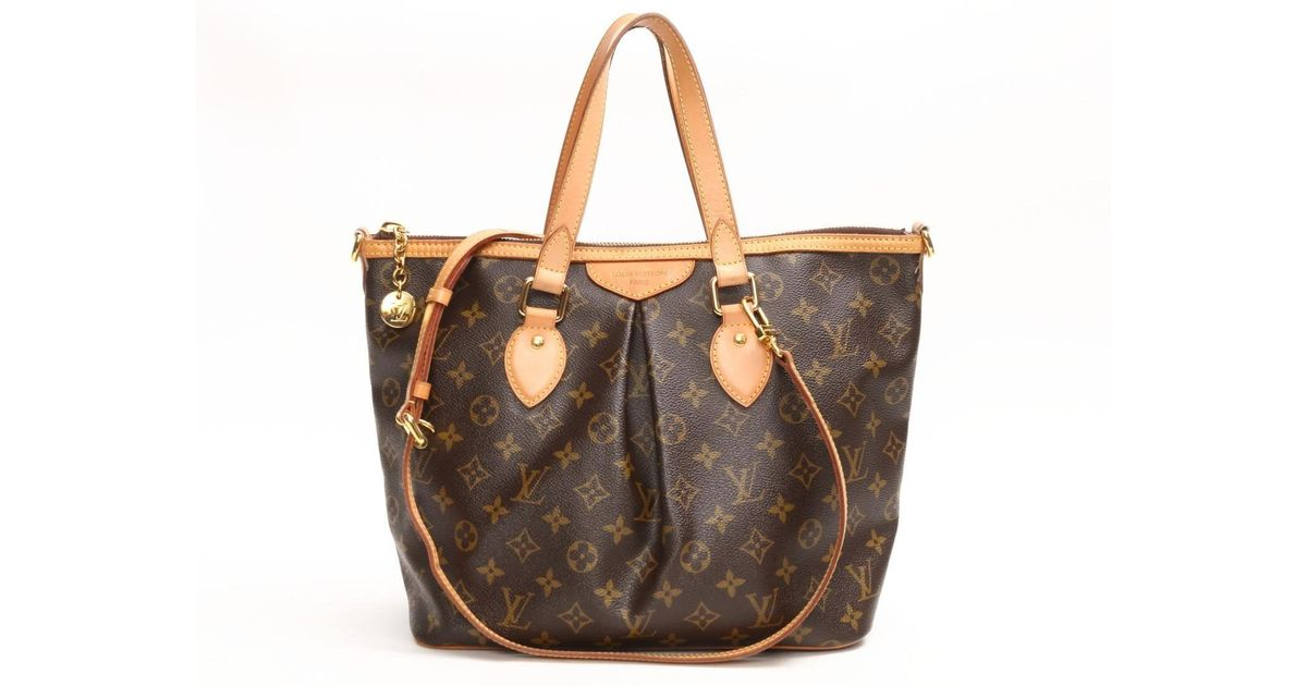 Lyst - Louis Vuitton Palermo Pm Handbag Shoulder Bag Monogram Canvas M40145  in Brown a272c9e59bc91