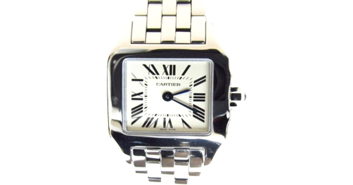 huge discount b0afb 4d33b Cartier - Metallic Santos Demoiselle Watch W25064z5 Quartz System Stainless  Steel(ss) - Lyst