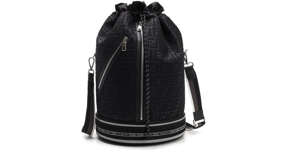8a4dd056a42c Lyst - Fendi Men s Ff Mesh Drawstring Carryall Bag in Black for Men - Save  21%