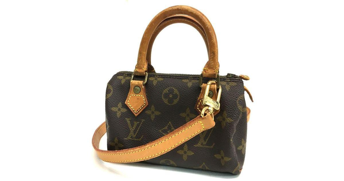 Lyst - Louis Vuitton Monogram Mini Speedy Mini Hand Bag Shoulder Bag 2way  Bag Monogramcanvas M41534 in Brown 79759c63c56f3