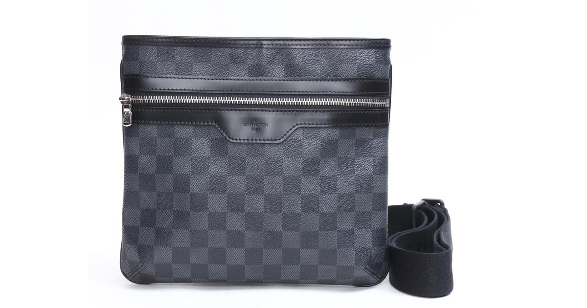 Lyst Louis Vuitton Thomas Messenger Bag Damier Graphite N58028 In Gray For Men